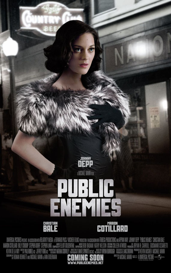 marion cotillard in public enemies (2009)