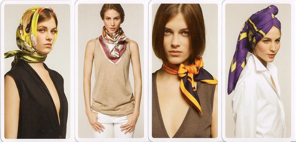 Hermes: How to tie a Scarf : Swing Fashionista